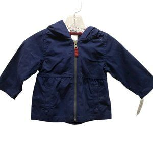 Carter's Baby Girls Solid Blue Light Jacket 9mo